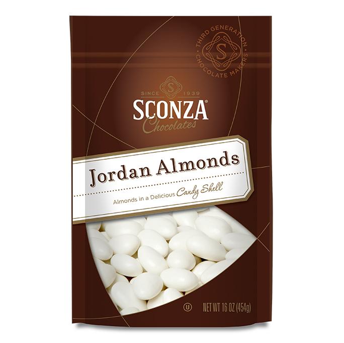 16 oz Bag of White Jordan Almonds