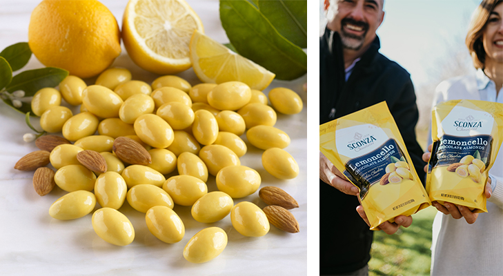 Lemoncello almonds