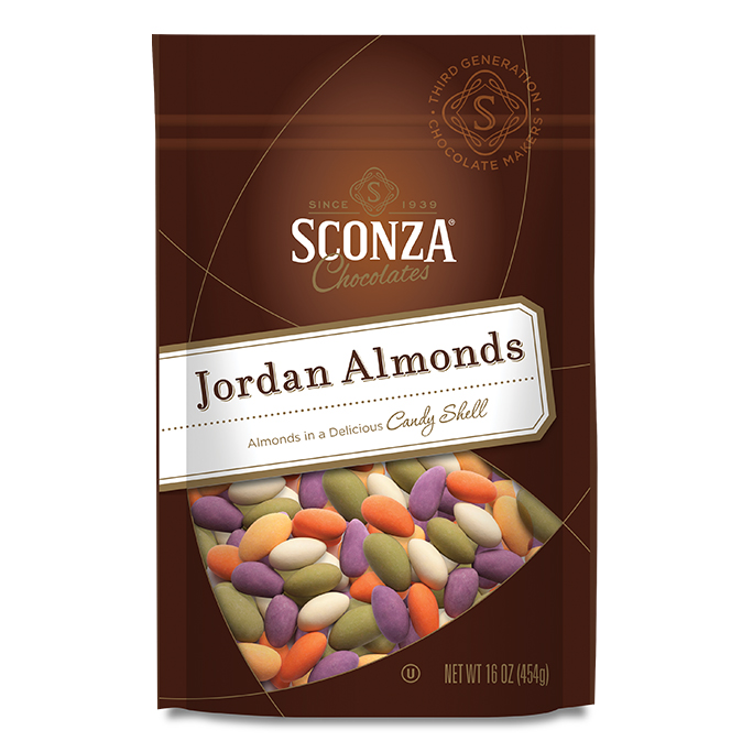16 oz bag of Fall Jordan Almonds